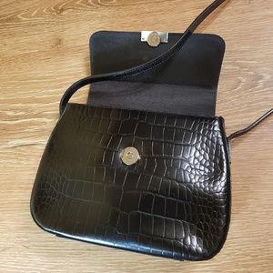 Lauren Croc Leather Small Crossbody Bag